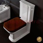 Сидение для унитаза KERASAN Waldorf+soft-close 418640 bronze