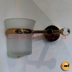 Стакан для зубных щеток SANCO A5-Z01-10801 Gold