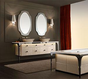 Мебель для ванной комнаты бренда Vitage от Milldue edition.