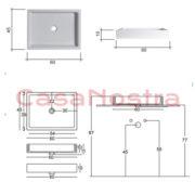 Умывальник NIC Design Canale 001 129