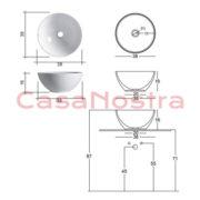 Умывальник NIC Design Flavia 001 001