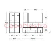 Набор для ванной комнаты Eurodesign bali comp 02